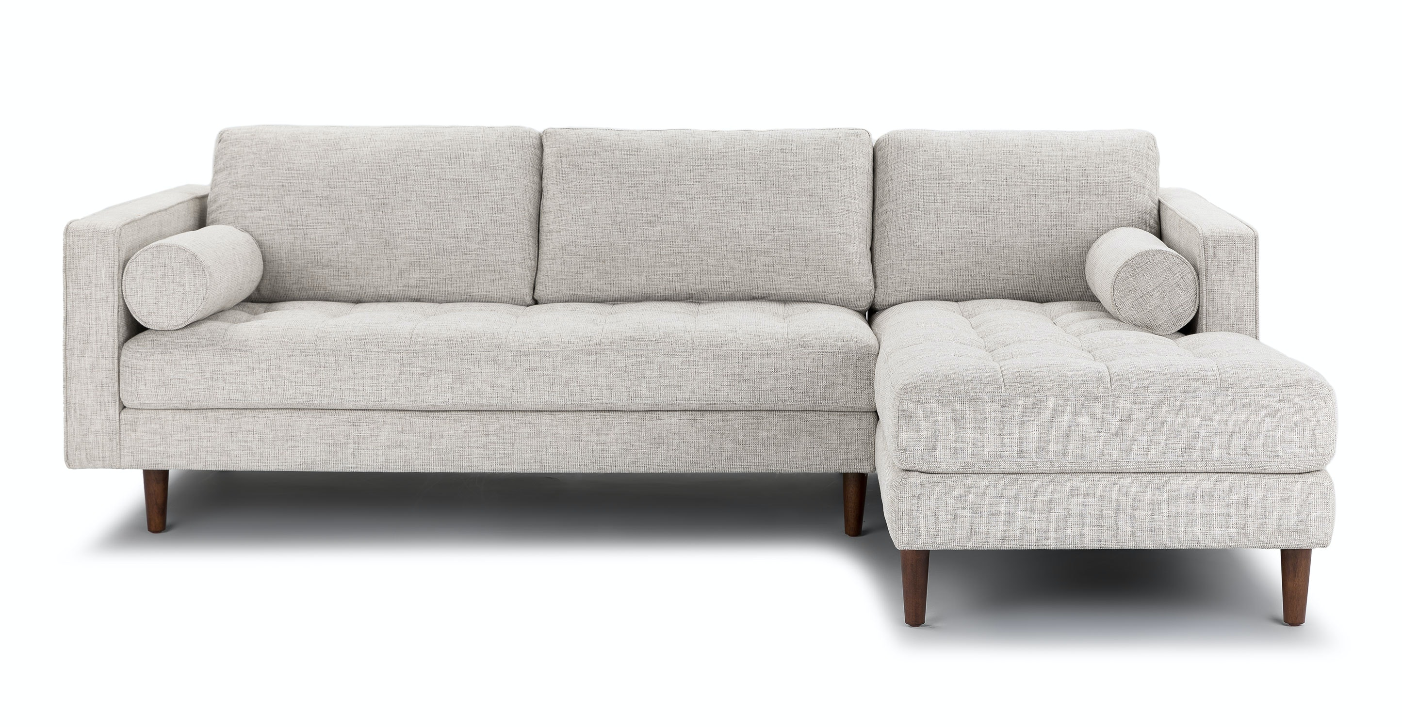 Beau Sven Birch Ivory Right Sectional Sofa