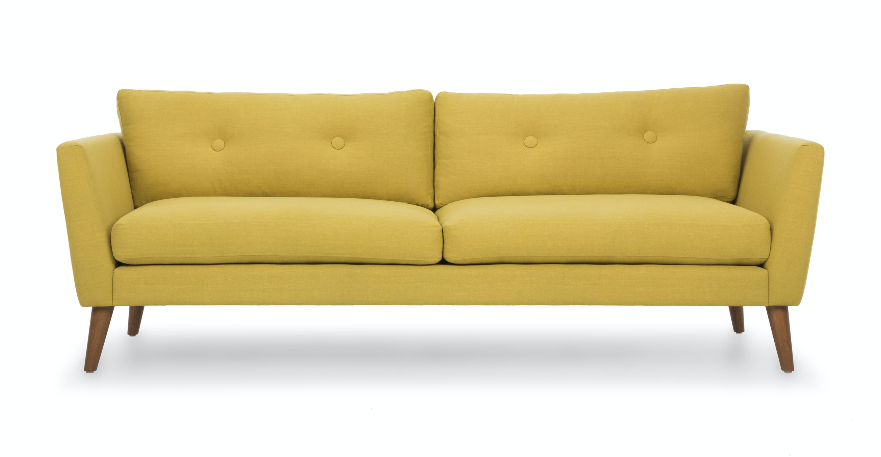 Emil Chartreuse Yellow Sofa Sofas Article Modern Mid Century And Scandinavian Furniture