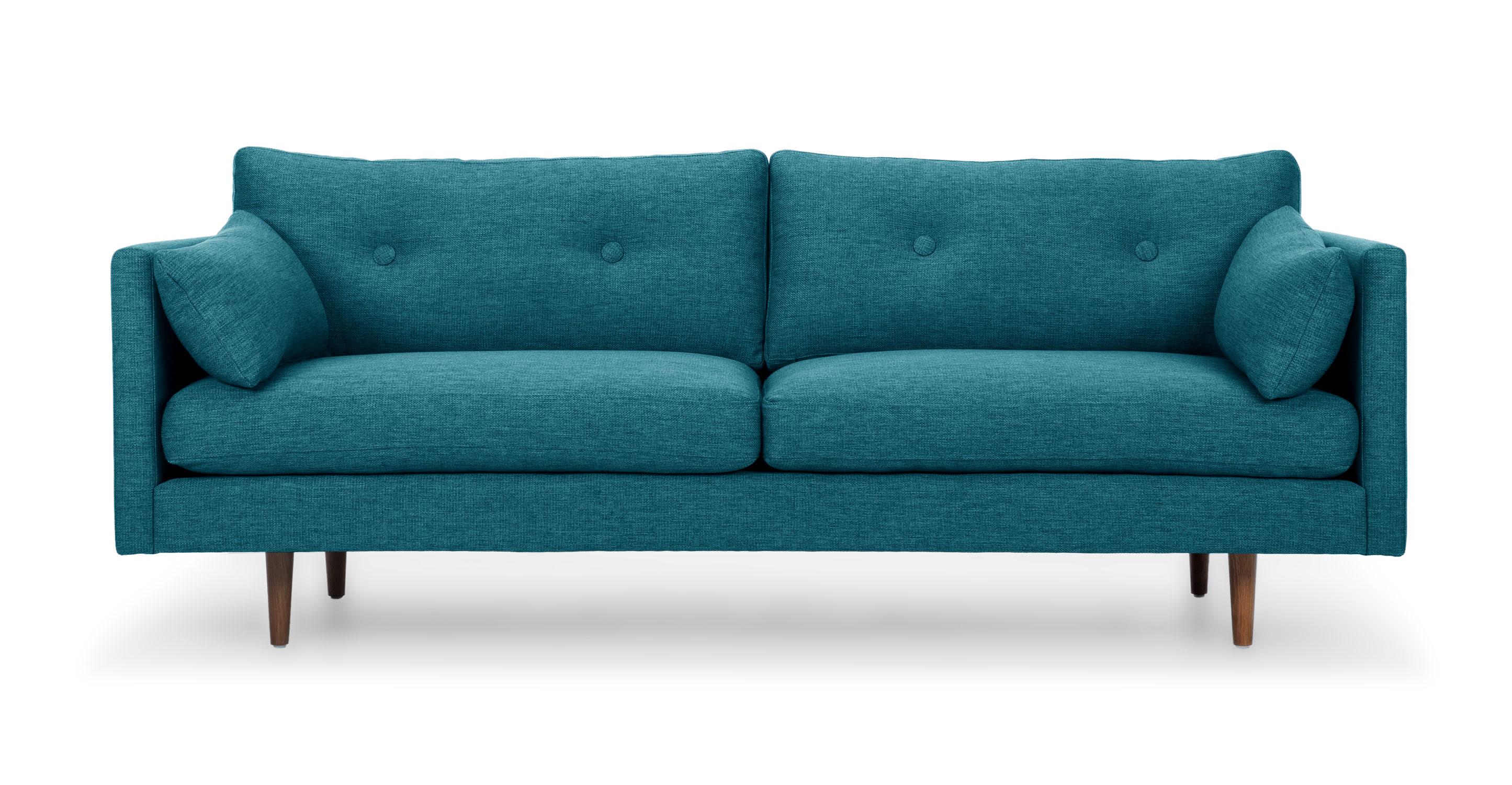 Anton Arizona Turquoise Sofa Sofas Article Modern Mid
