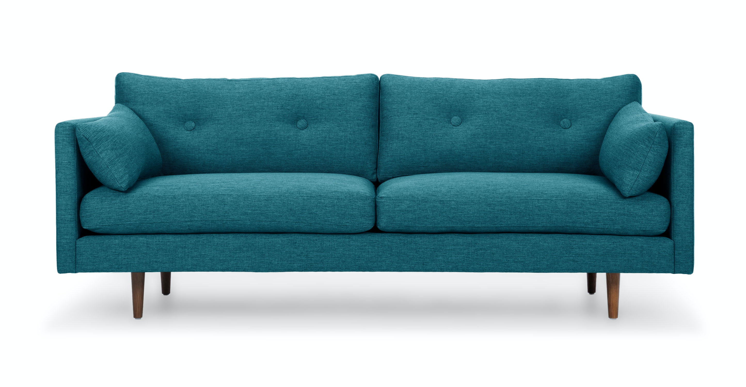 Anton arizona turquoise sofa sofas article modern for Furniture sofas and couches