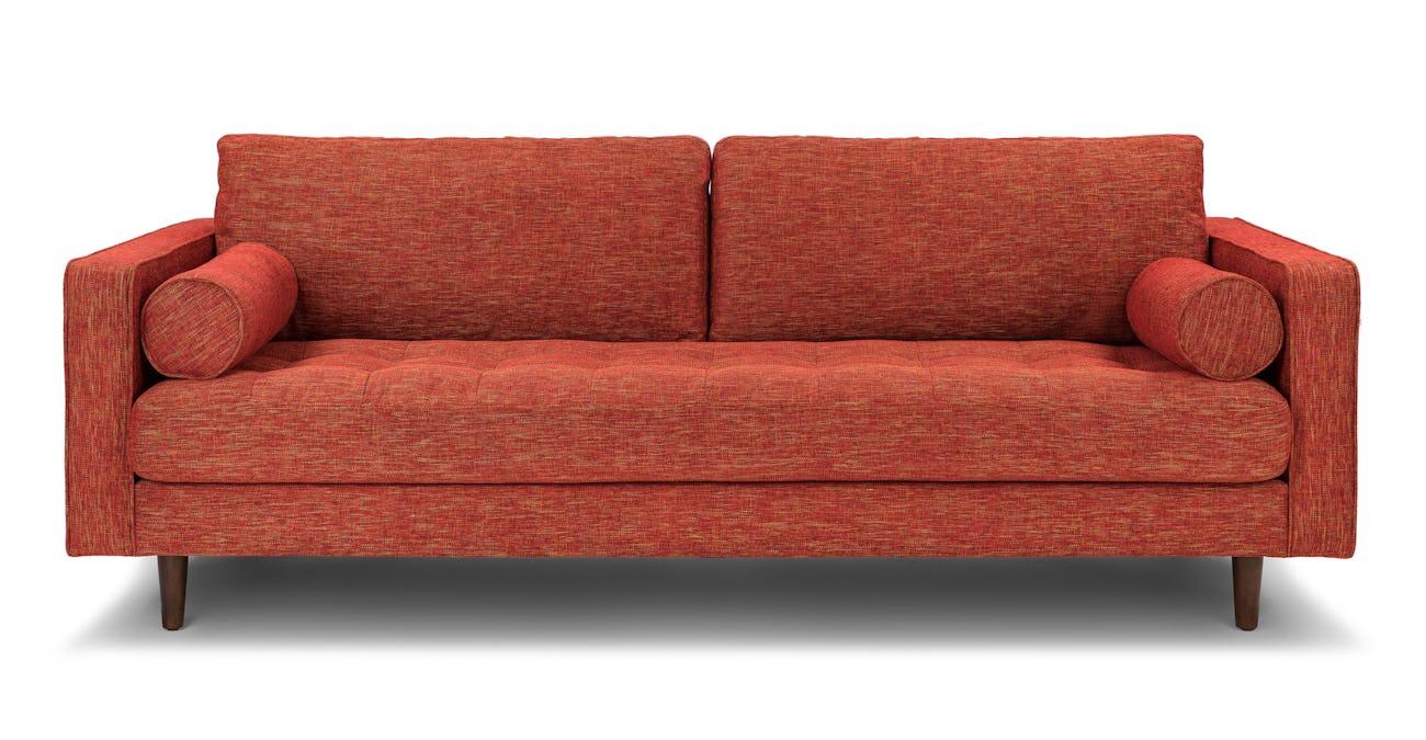 Sven Salsa Orange Sofa