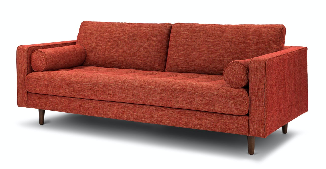 Sven Salsa Orange Sofa
