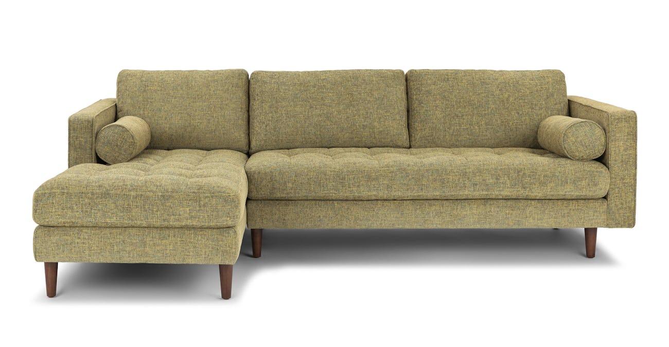 Sven Linden Green Left Sectional Sofa
