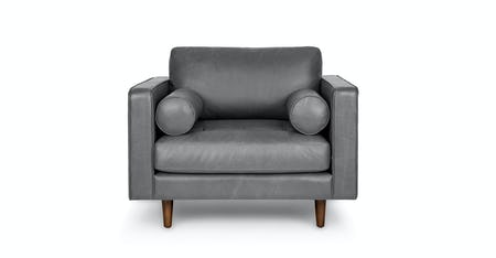 Strange Gray Leather Accent Chairs Article Machost Co Dining Chair Design Ideas Machostcouk