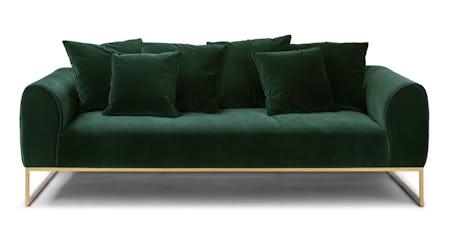 Peachy Mid Century Green Velvet Sofa Article Machost Co Dining Chair Design Ideas Machostcouk
