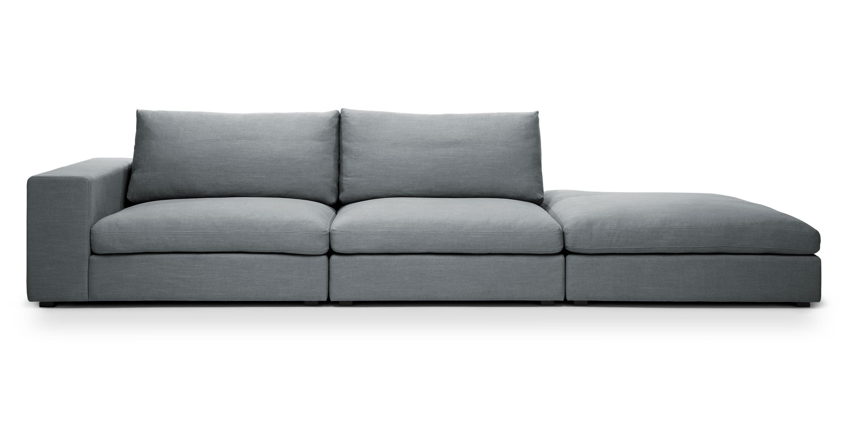 Cube Quartz White Modular Sofa Left Arm Sofas Article