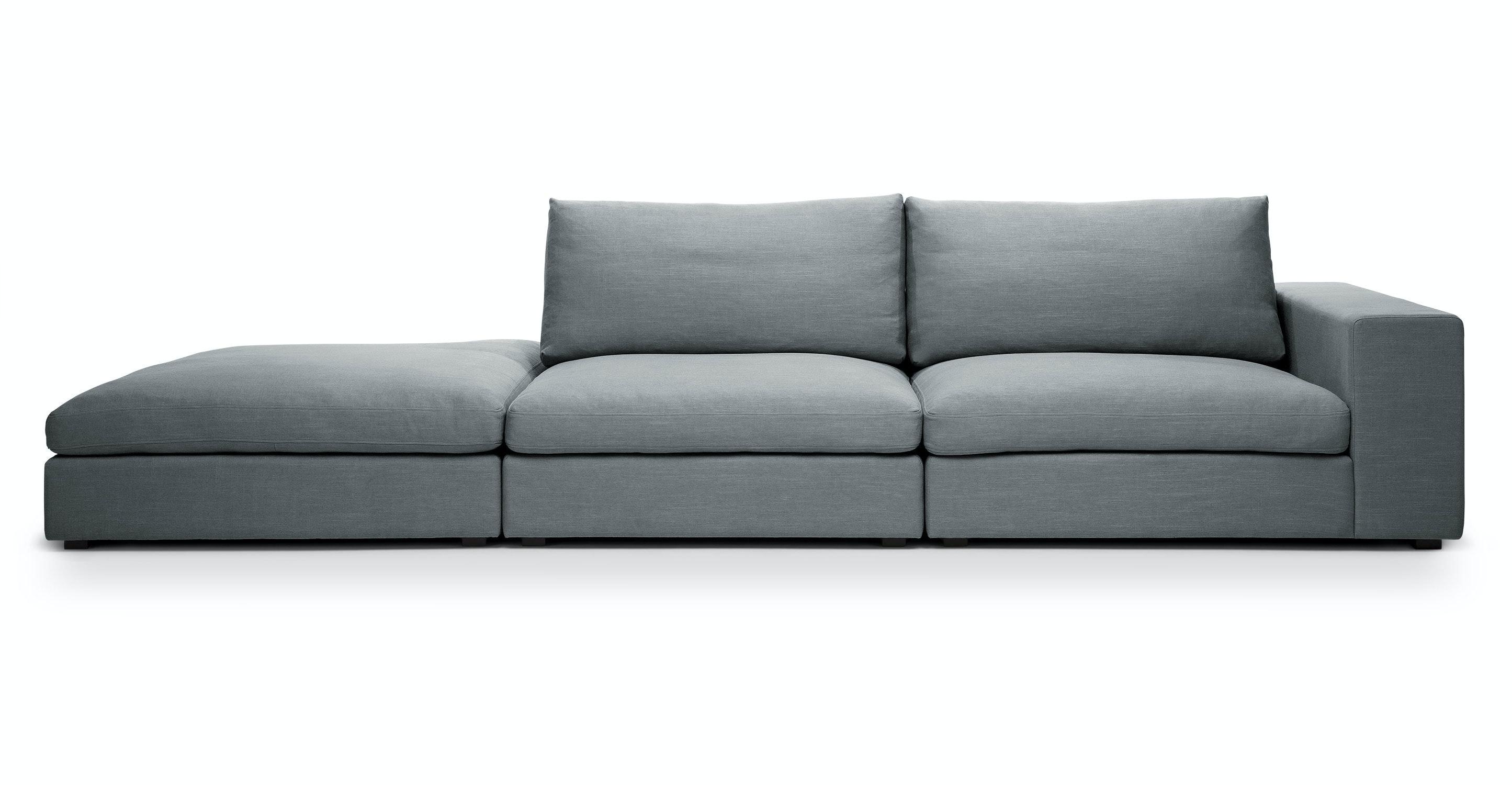 Cube Quartz White Modular Sofa Right Arm Sofas Article