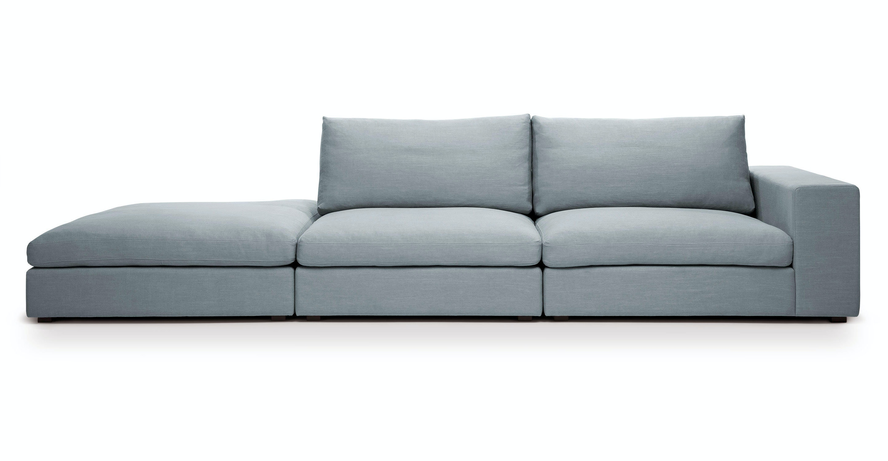 Cube Glacier Blue Modular Sofa Right Arm Sofas