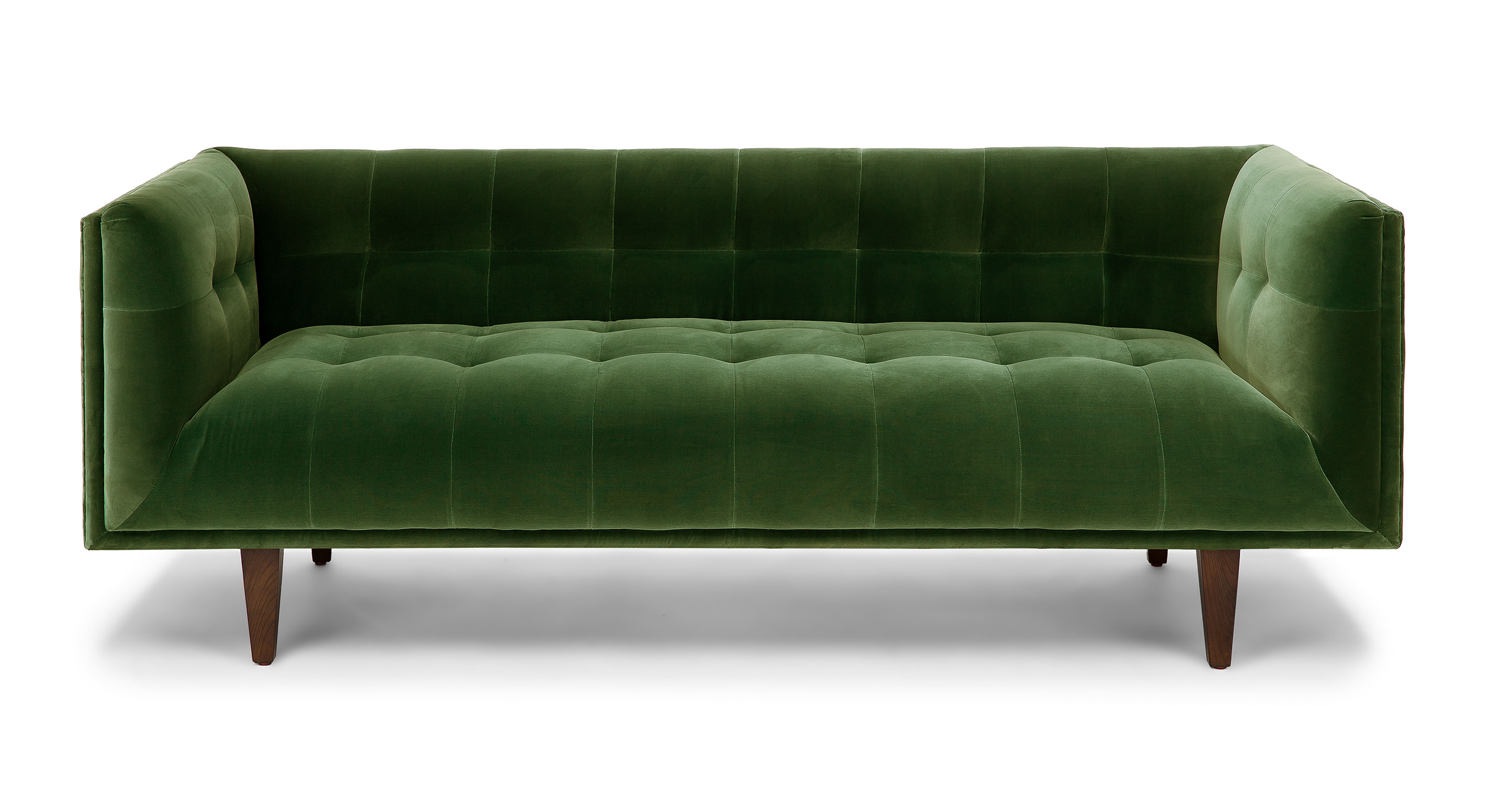 Picture of: Grass Green Cirrus 3 Seater Velvet Sofa Article