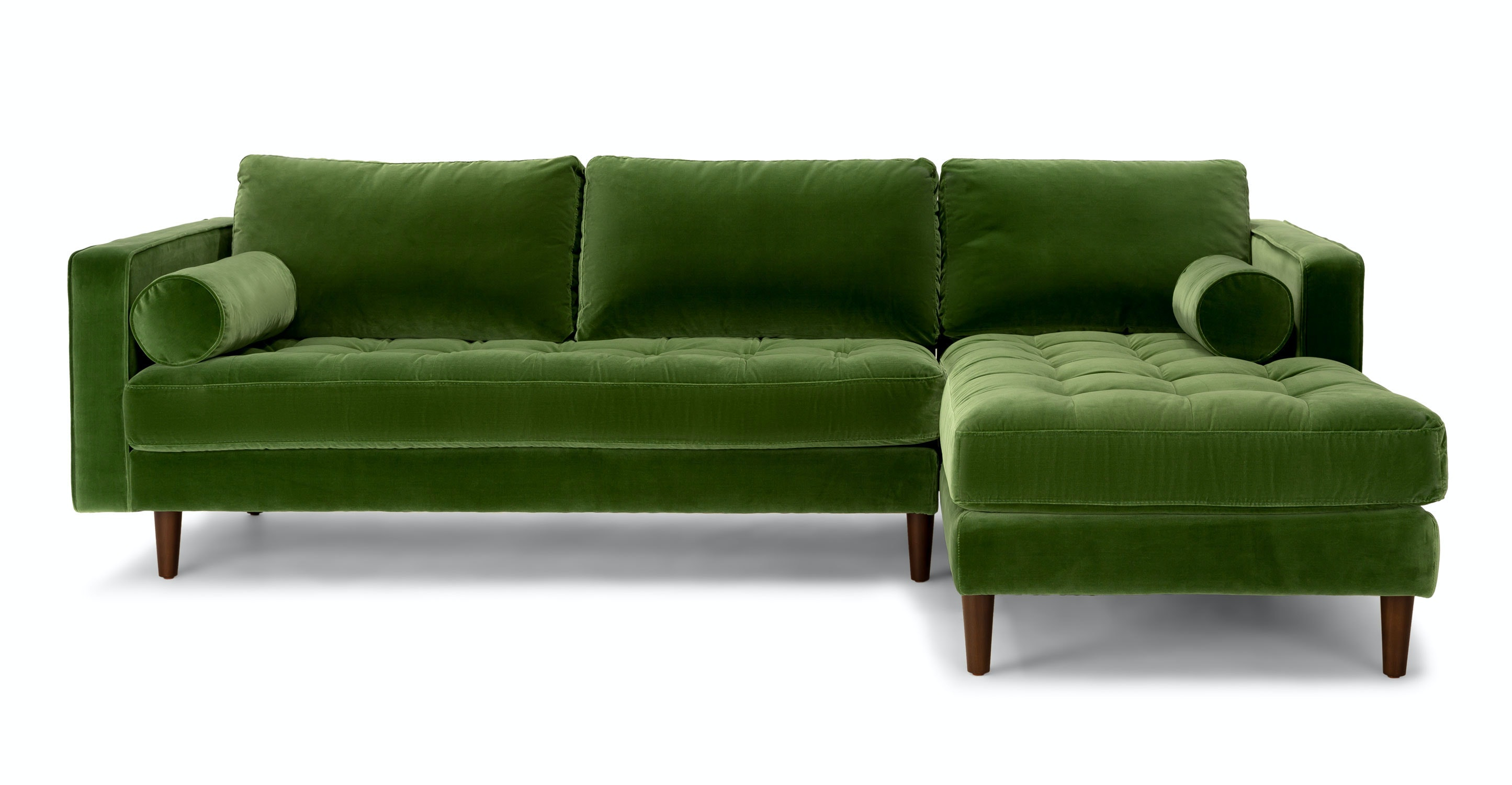 hot sale online f06b0 c2698 Green Velvet Right Sectional - Tufted | Article Sven Modern Furniture