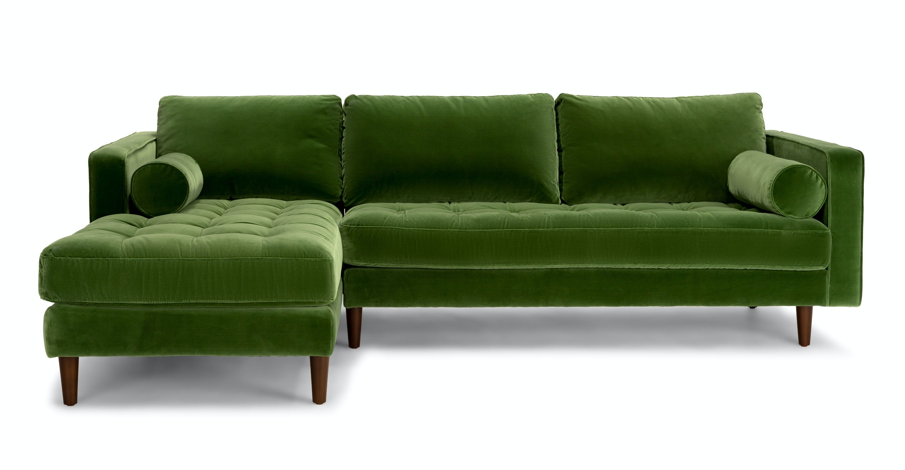 Sven grass green left sectional sofa article