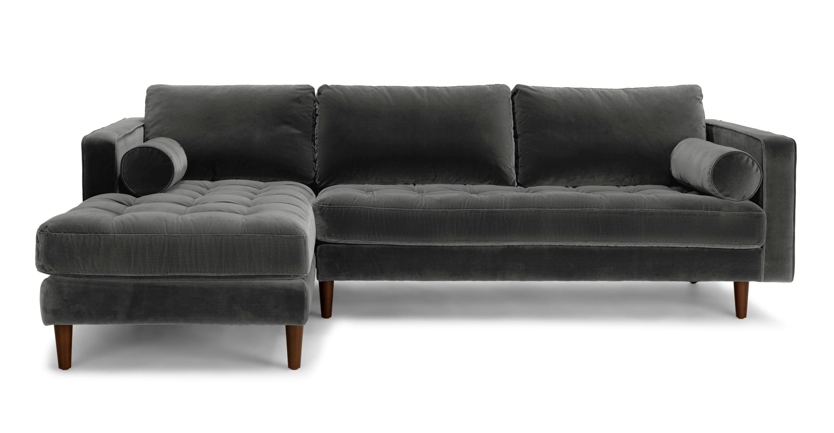 Sven Shadow Gray Left Sectional Sofa