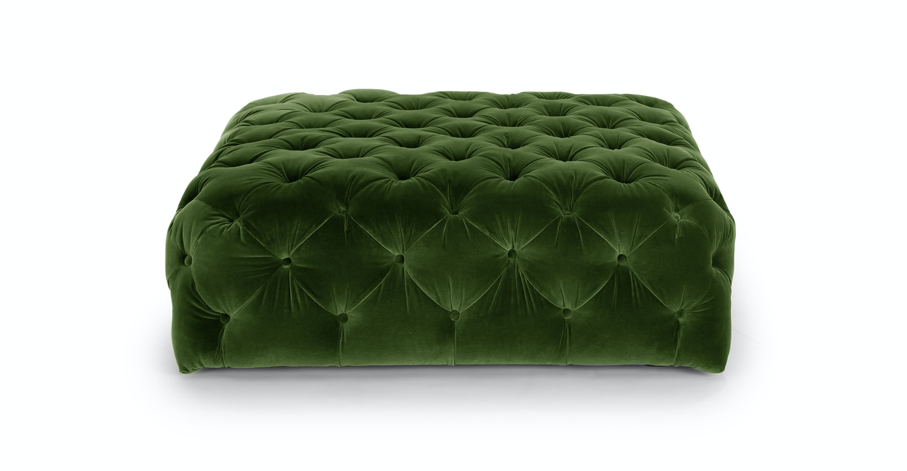 Diamond Grass Green Ottoman Article