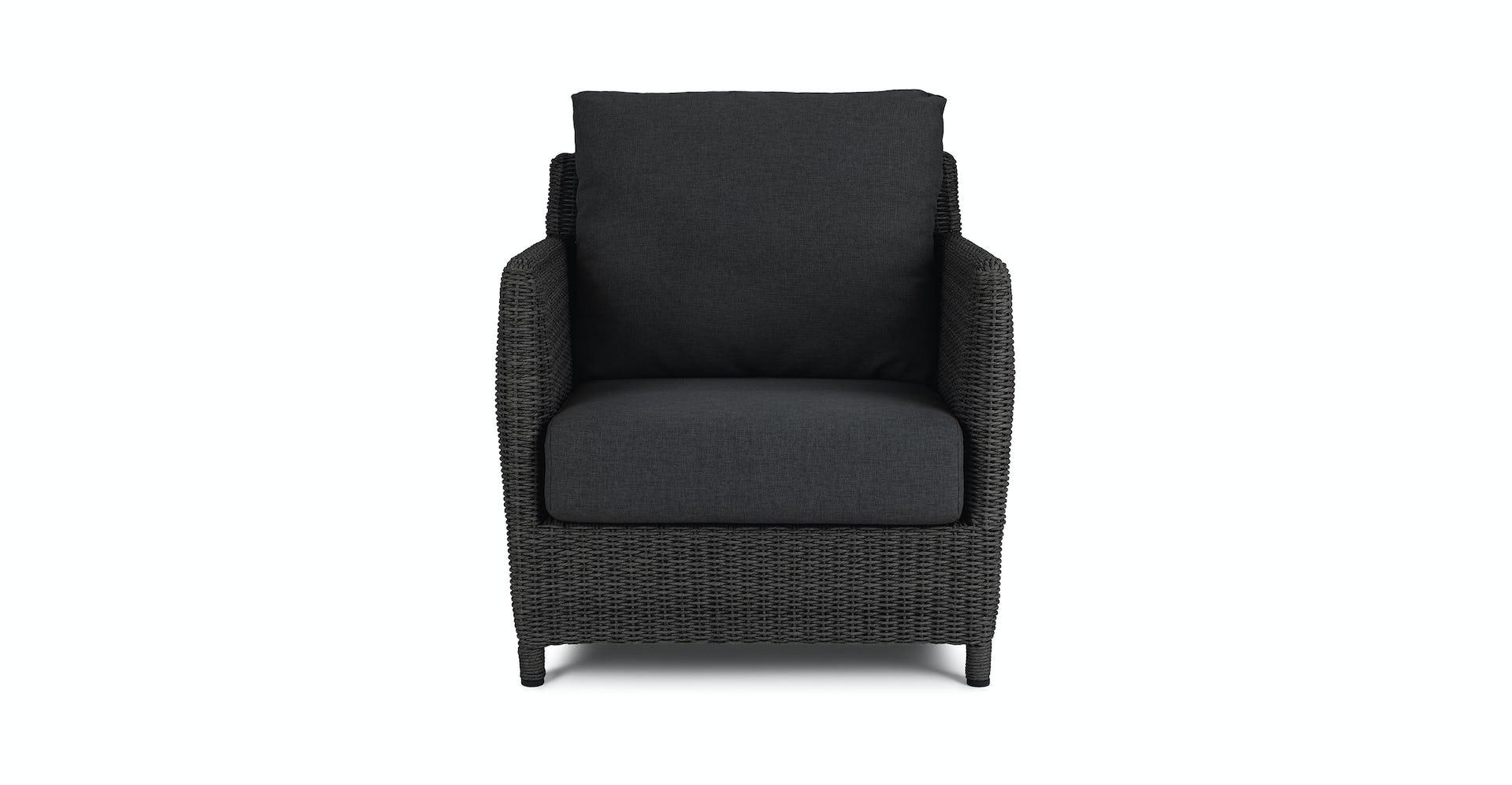 Incredible Calo Onyx Black Lounge Chair Customarchery Wood Chair Design Ideas Customarcherynet