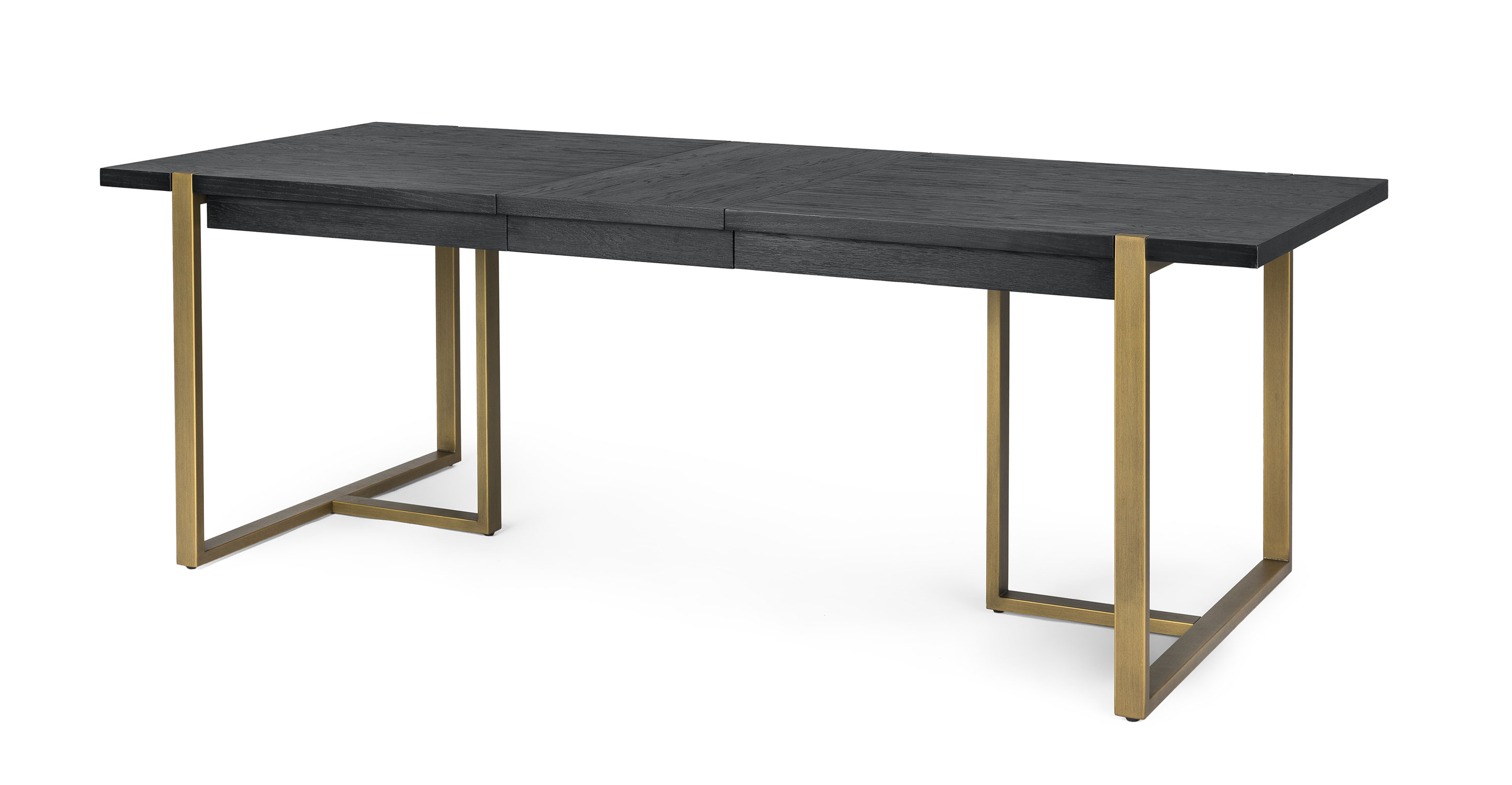 Picture of: Black Wood Extendable 8 Person Rectangle Dining Table Oscuro Article