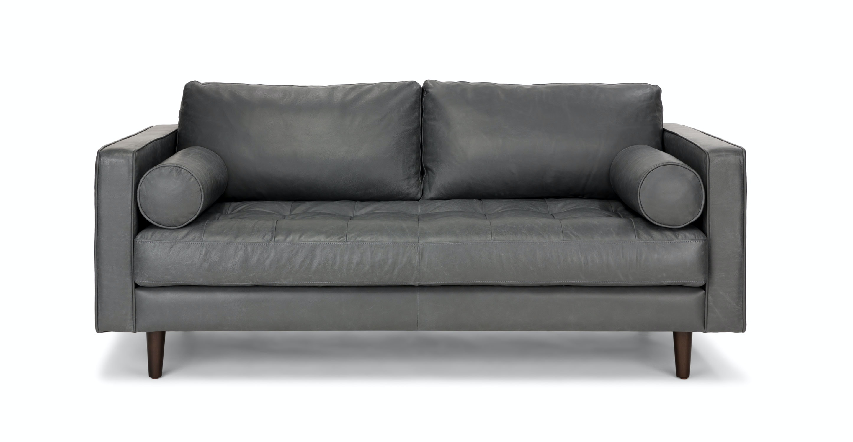 Gray Leather Tufted Sofa - Upholstered | Article Sven Modern Furniture
