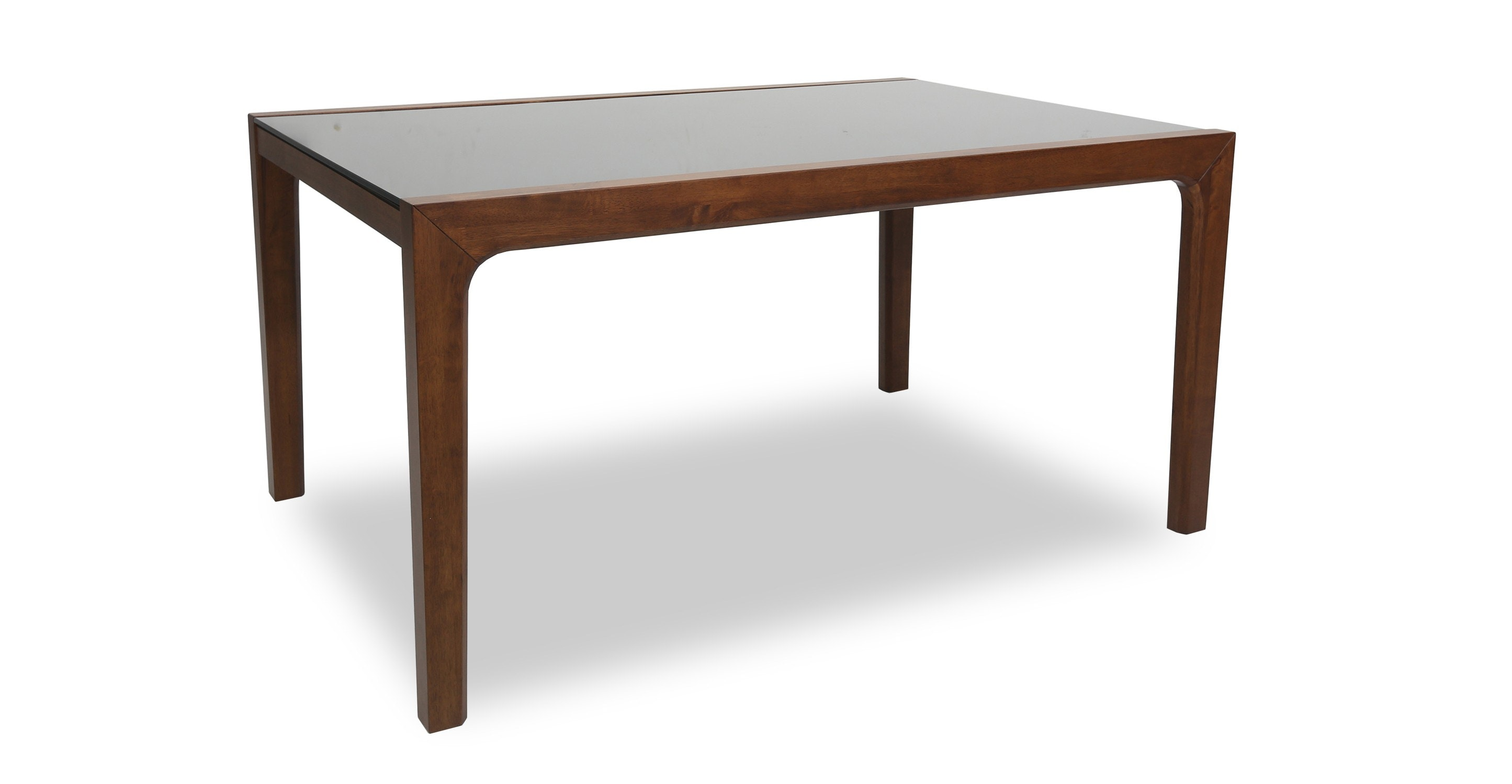 Baskets article modern mid century and scandinavian furniture - Cole Glass Cocoa Dining Table For 6 Glass Tables
