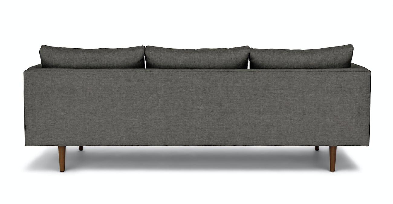 Dark Gray Sofa, 3 Seater, Solid Wood Legs   Article Burrard Modern Furniture