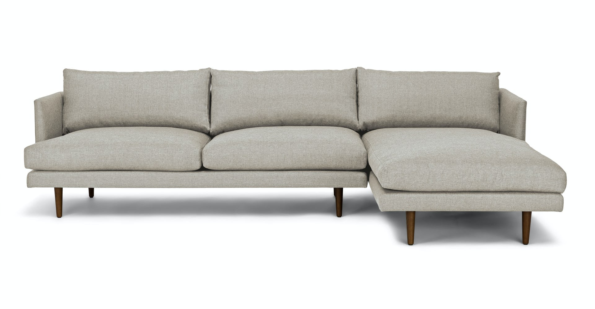 Brilliant Burrard Seasalt Gray Right Sectional Sofa Evergreenethics Interior Chair Design Evergreenethicsorg
