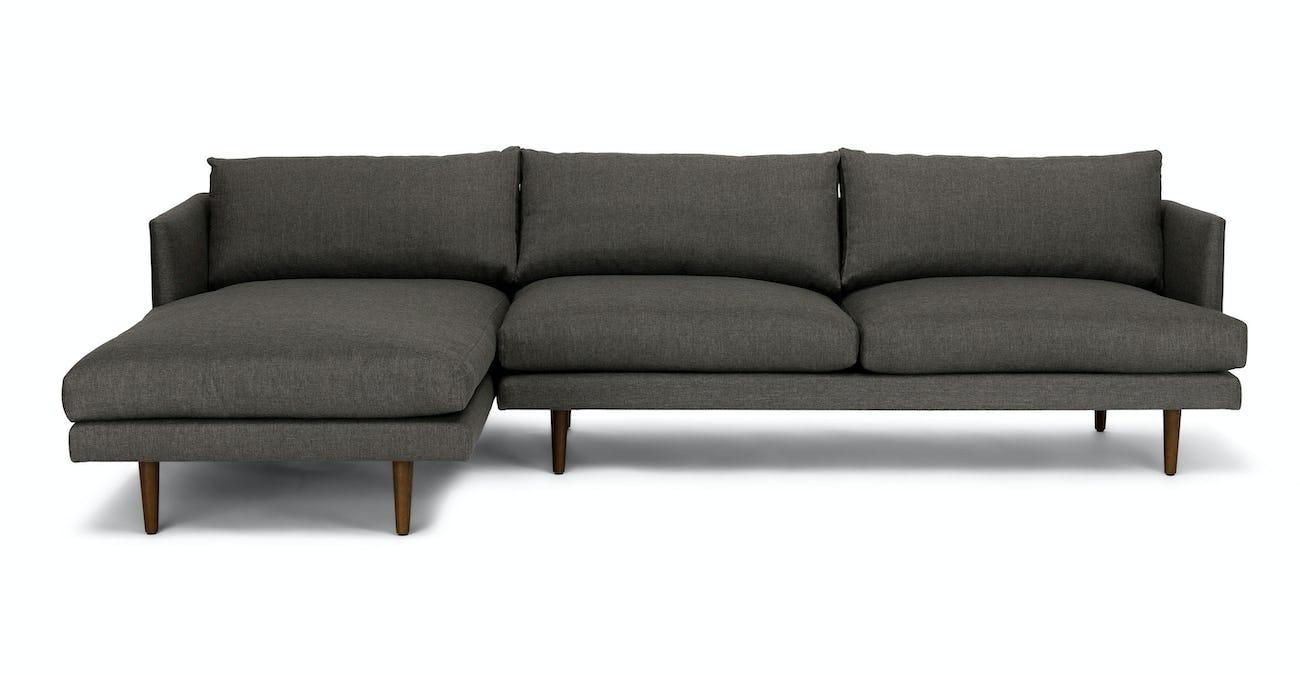 Burrard Graphite Gray Left Sectional Sofa