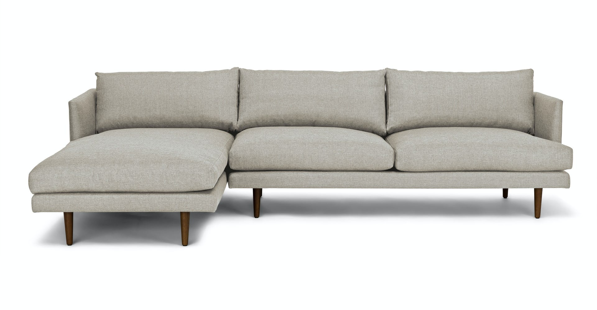 Swell Burrard Seasalt Gray Left Sectional Sofa Gmtry Best Dining Table And Chair Ideas Images Gmtryco