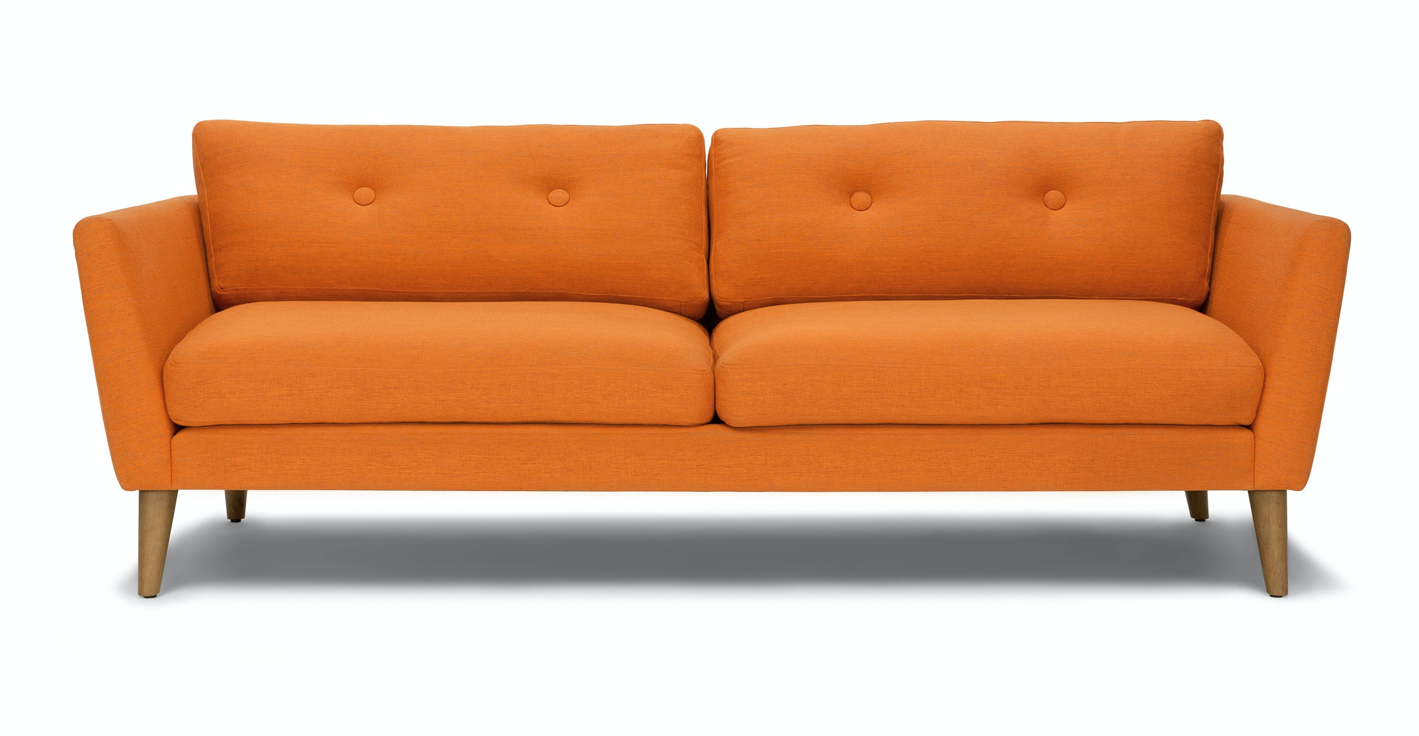 Emil Papaya Orange Sofa Sofas Article Modern Mid Century And Scandinavian Furniture