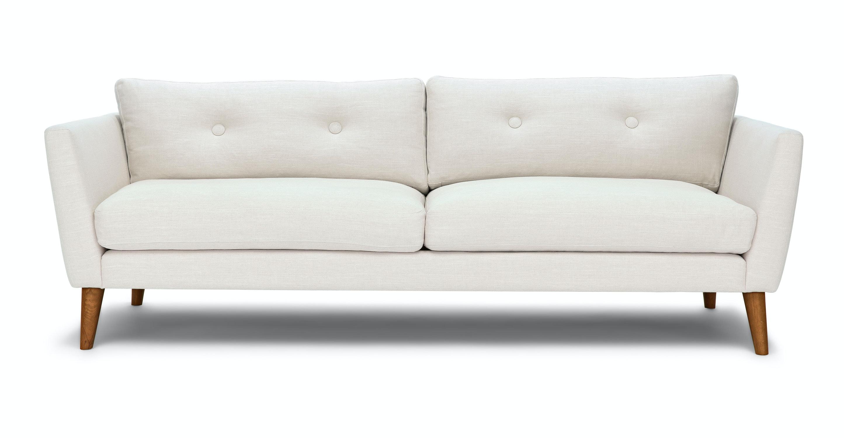 Emil Quartz White Sofa