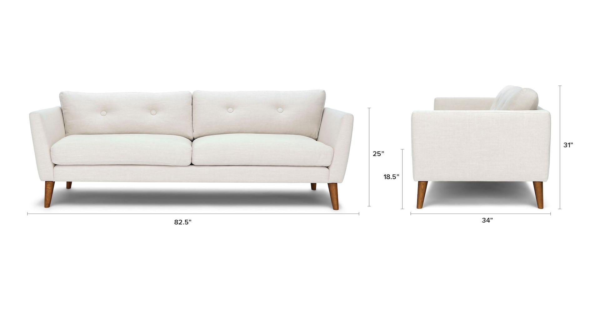 Peachy Emil Quartz White Sofa Theyellowbook Wood Chair Design Ideas Theyellowbookinfo