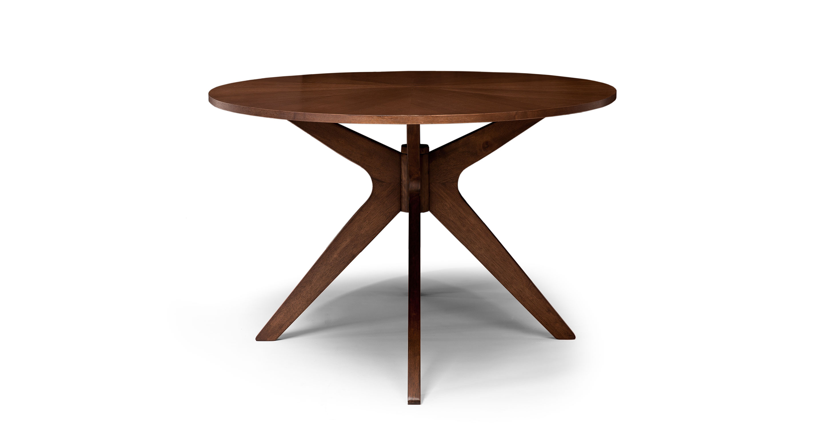 Walnut Wood 6 Person Oval Dining Table Conan Article