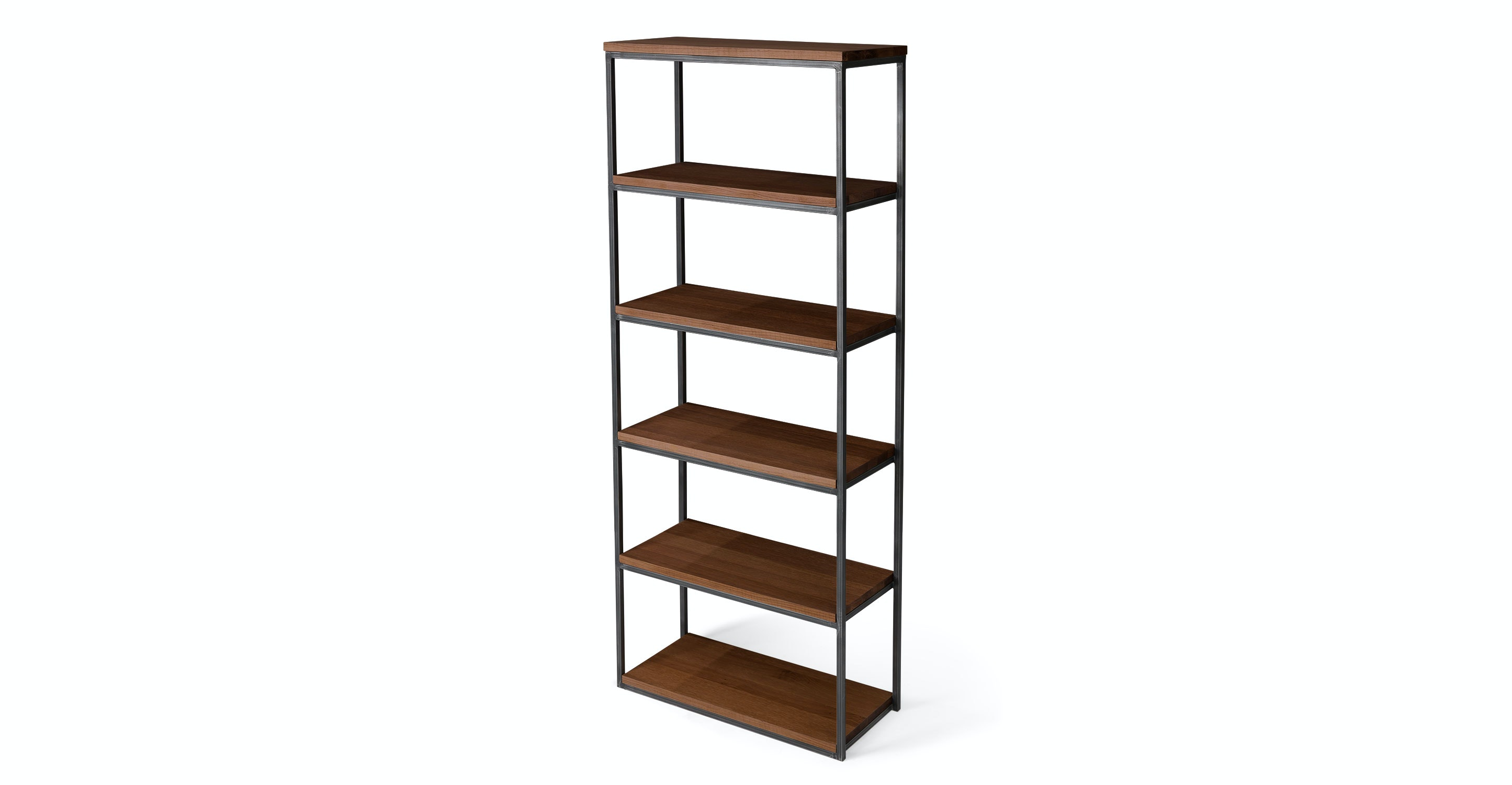 Archive Walnut 77 H Bookcase