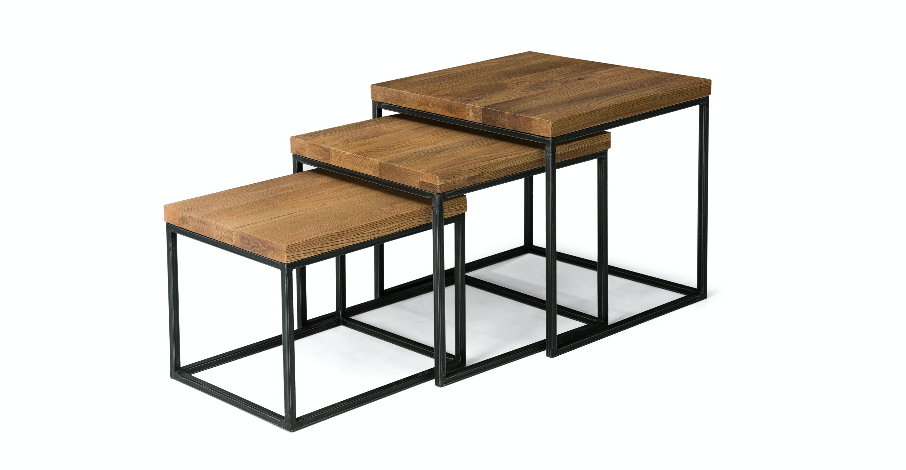 Taiga Oak Nesting Tables Coffee Tables Article