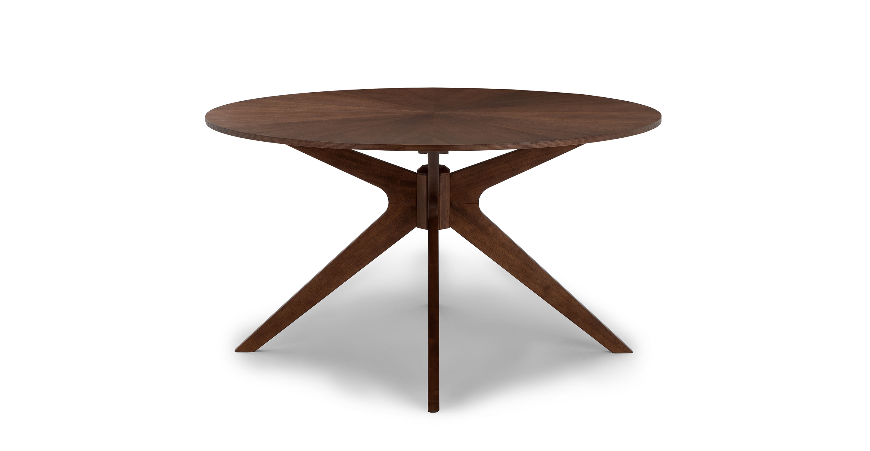 Picture of: 30 Walnut Wood 4 Person Round Dining Table Conan Article
