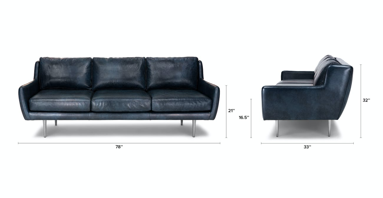 Matrix Oxford Blue Sofa
