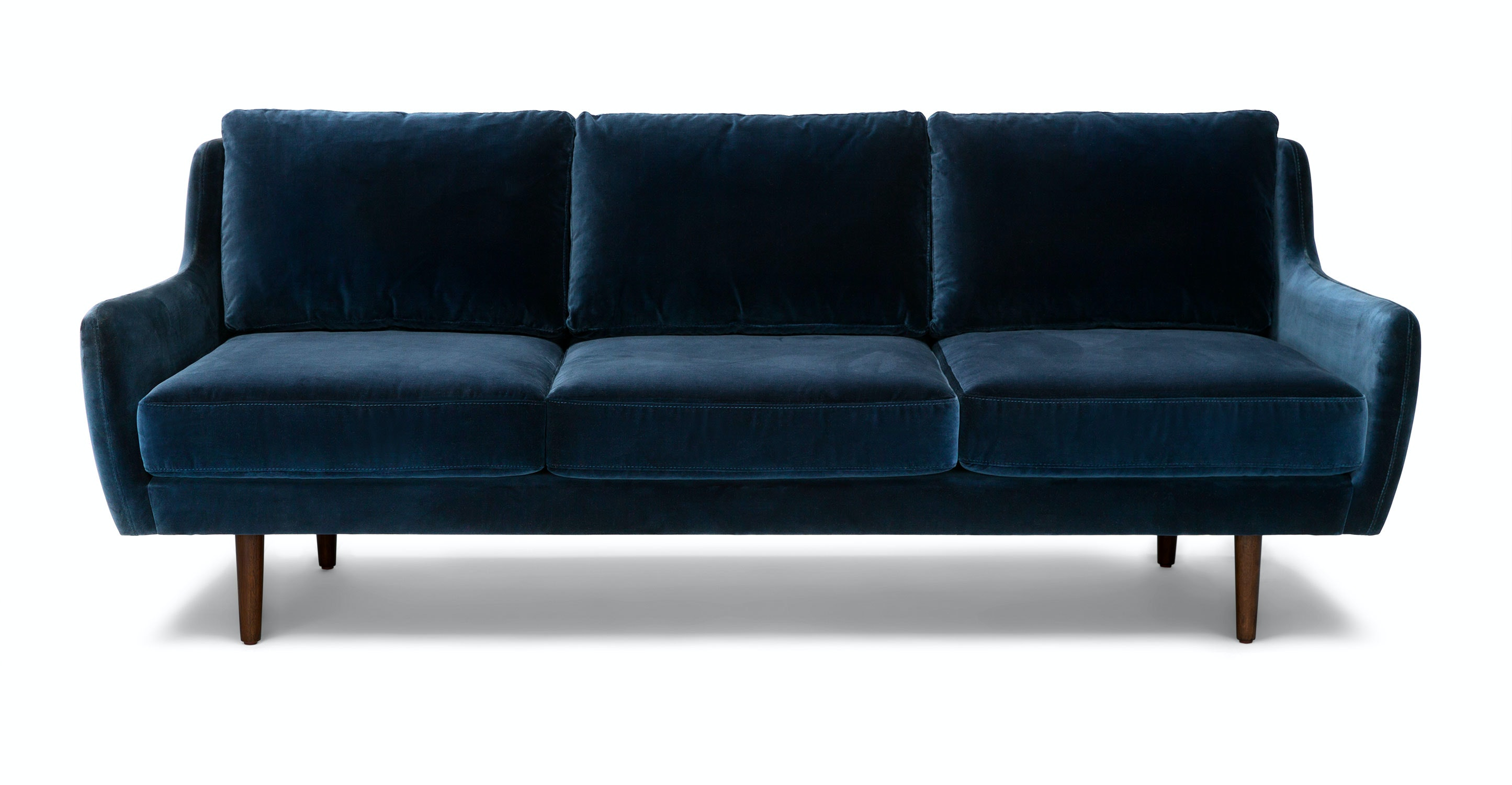 Matrix Cascadia Blue Sofa Sofas Article Modern Mid