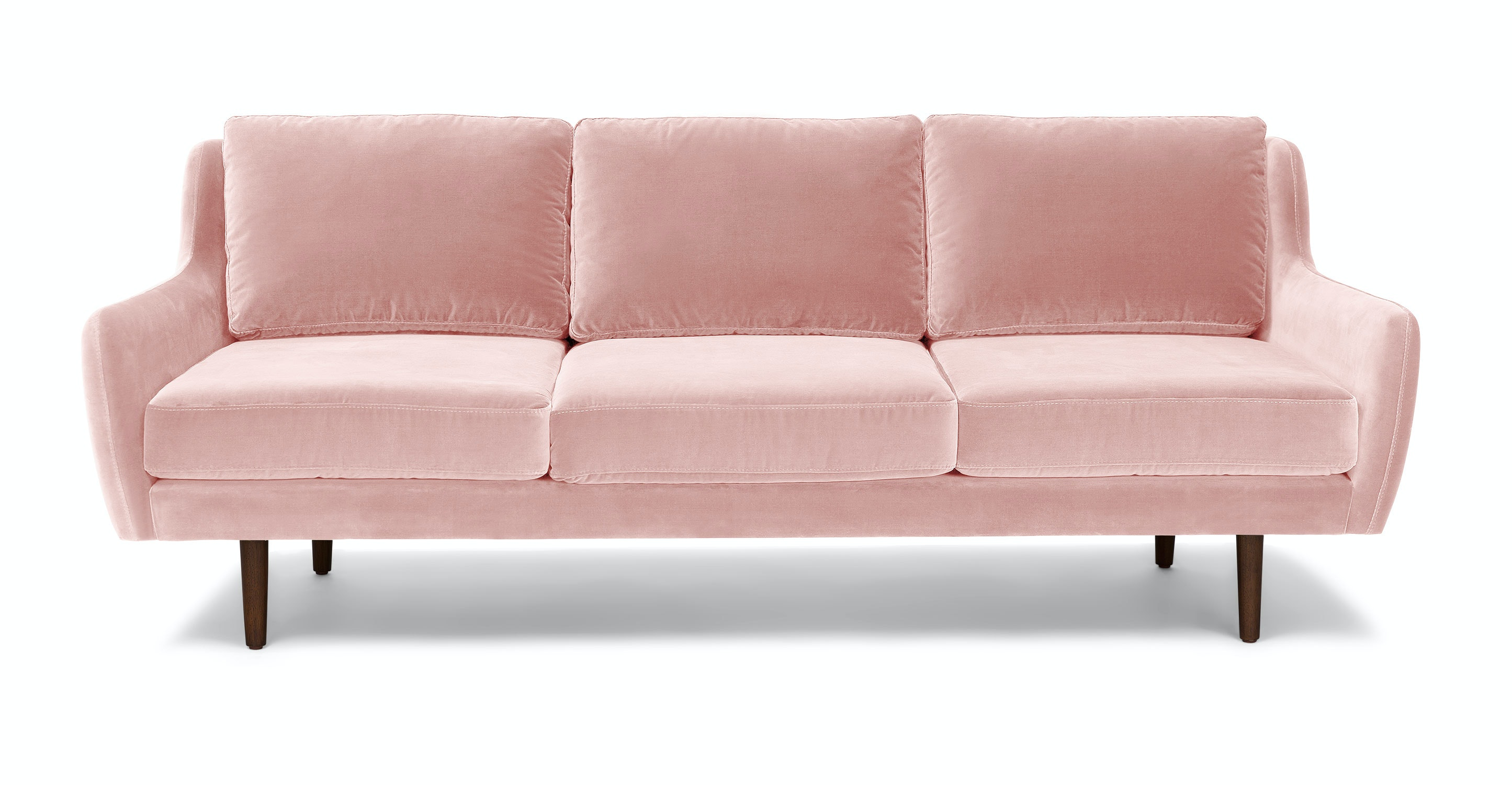 Matrix Blush Pink Sofa Sofas Article Modern Mid