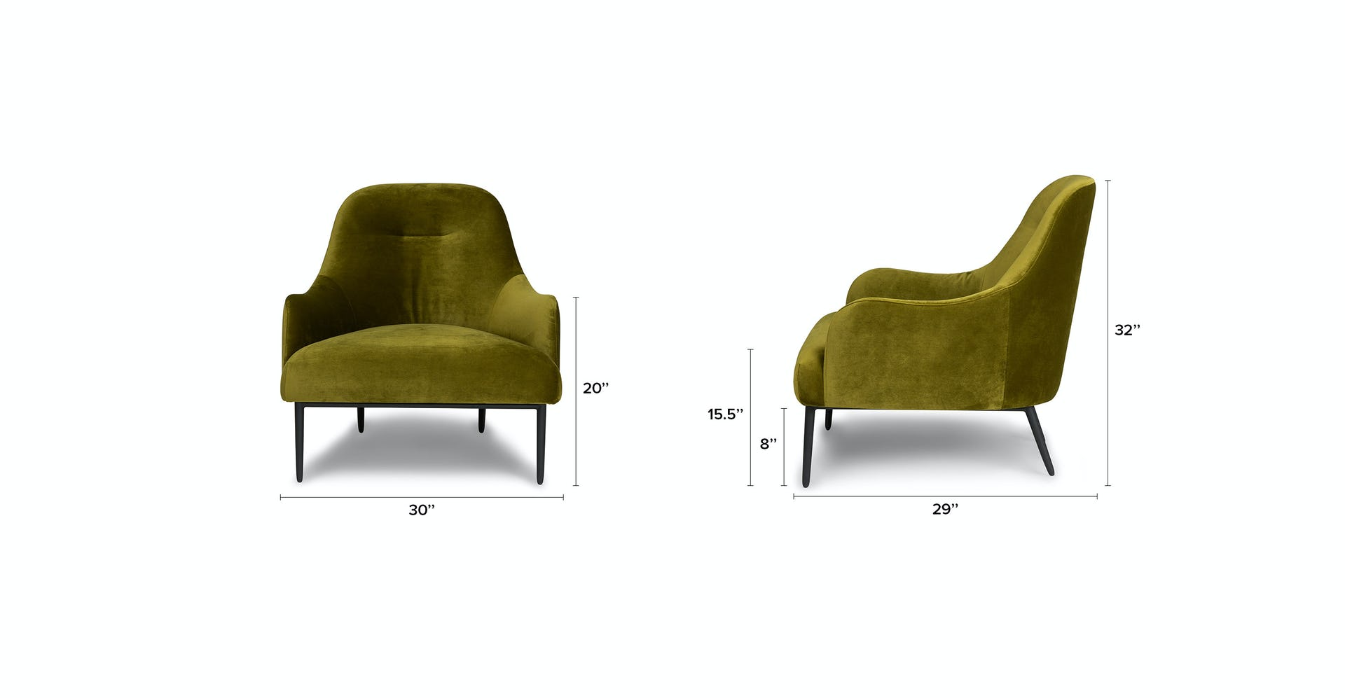 Swell Moss Green Embrace Velvet Lounge Chair Article Caraccident5 Cool Chair Designs And Ideas Caraccident5Info