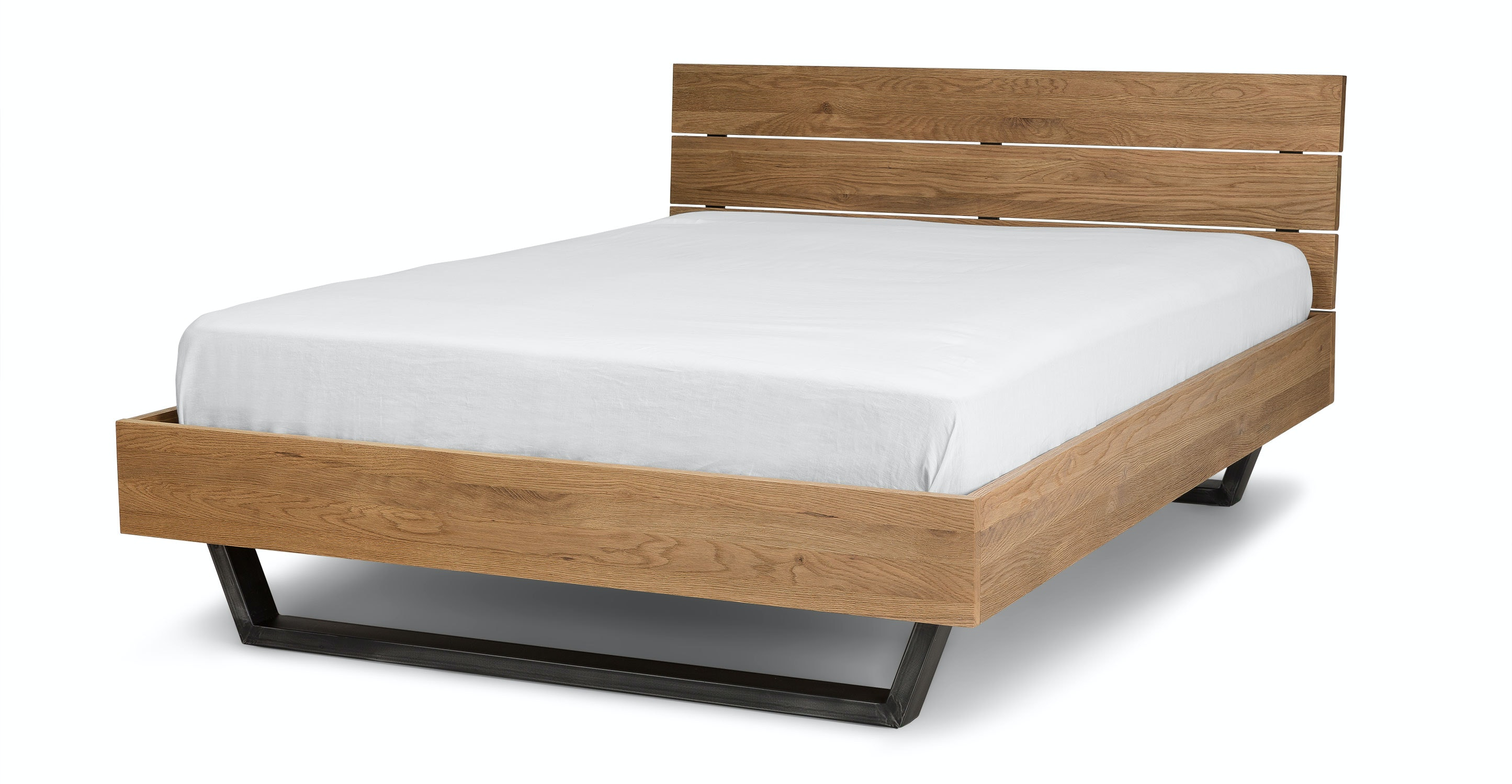 Taiga Oak Full Bed - Beds - Article | Modern, Mid-Century and ...