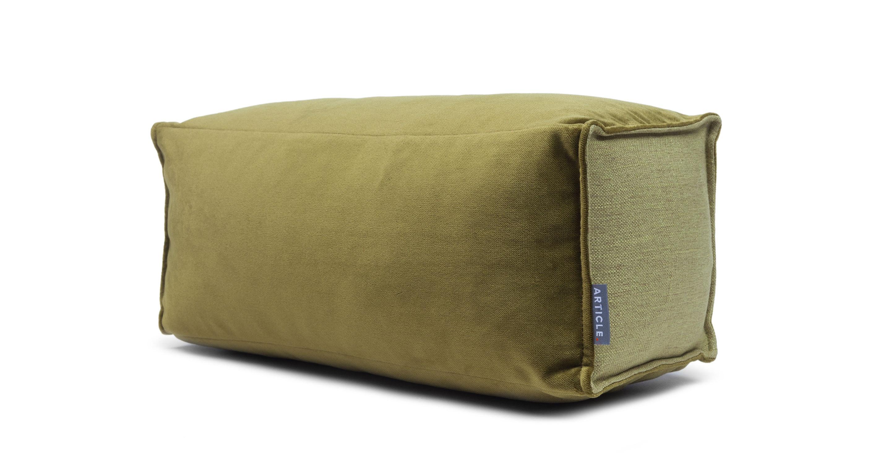 Modern Bolster Pillows : Velu Moss Green Bolster - Pillows - Article Modern, Mid-Century and Scandinavian Furniture
