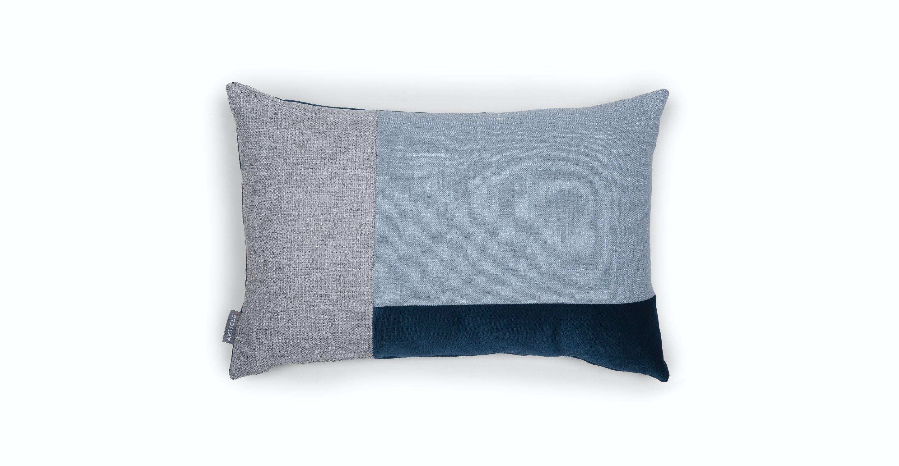 Velu Blue / Gray Rectangular Pillow - Pillows - Article Modern, Mid-Century and Scandinavian ...
